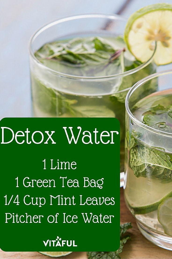 Weight Loss Detox Drinks Recipes  Green Tea Detox Water Recipe For Weight Loss