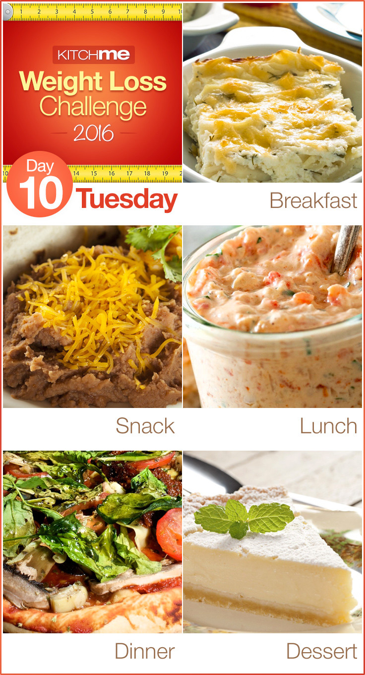 Weight Loss Dinner  Day 10 Meal Plan – Weight Loss Challenge Recipes for