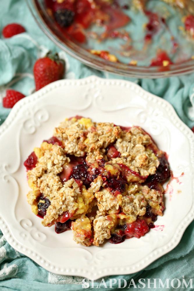 Weight Watchers Desserts Freestyle  Weight Watchers Berry Crisp – 2 Freestyle Points – Slap
