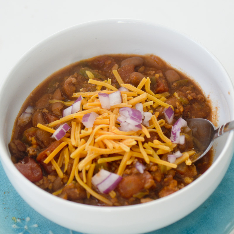Weight Watchers Turkey Chili  Weight Watchers Crock Pot Turkey Chili – Recipe Diaries