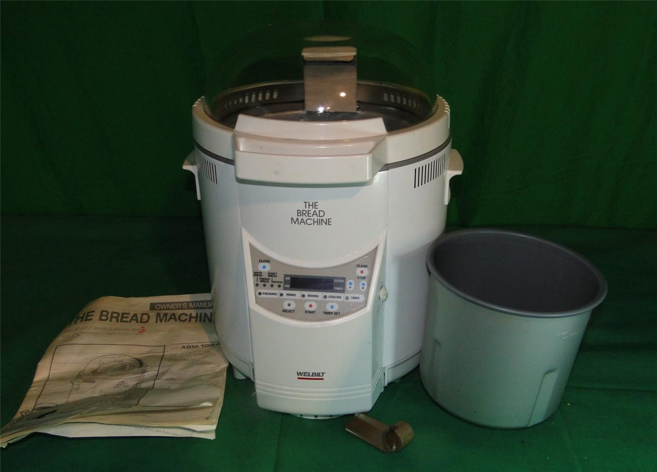 Welbilt Bread Machine  Welbilt ABM 100 4 Bread Machine w Manual