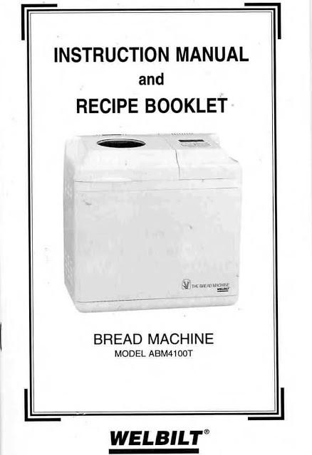 Welbilt Bread Machine  Welbilt Bread Machine Blog Model ABM4100T Welbilt Bread