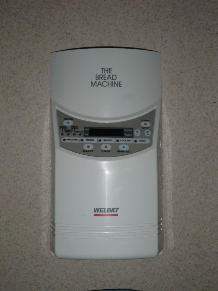 Welbilt Bread Machine  Welbilt Bread Machine Control Panel ABM 100 3