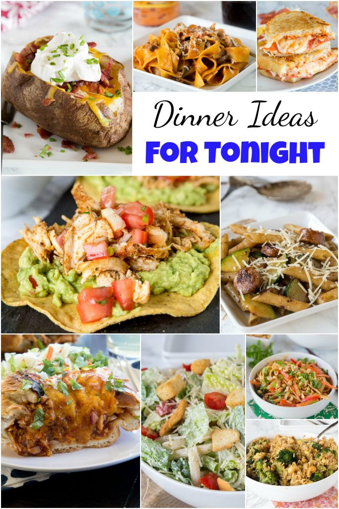 What Can I Make For Dinner Tonight  Dinner Ideas for Tonight Dinners Dishes and Desserts