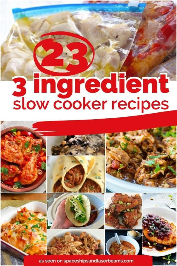 What Can I Make For Dinner With These Ingredients  23 Quick & Easy 3 Ingre nts or Less Crockpot Recipes
