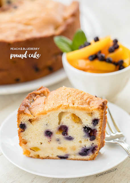 What Dessert Can I Make With Flour Sugar And Eggs  Peach and Blueberry Pound Cake