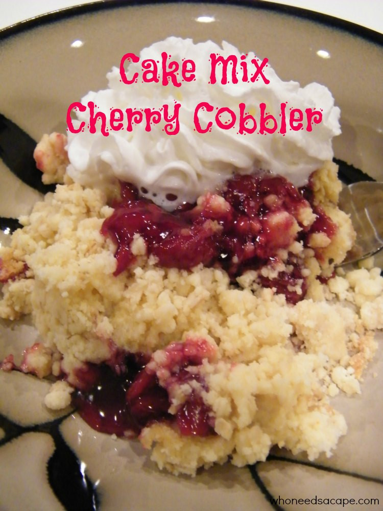 What Dessert Can You Make With Pancake Mix  Cake Mix Cherry Cobbler