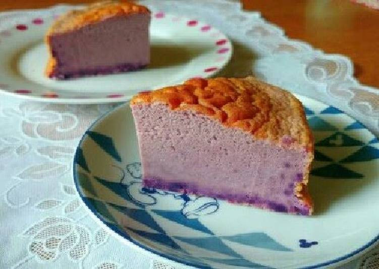 What Dessert Can You Make With Pancake Mix  Easy Purple Sweet Potato Cheese Cake with Pancake Mix