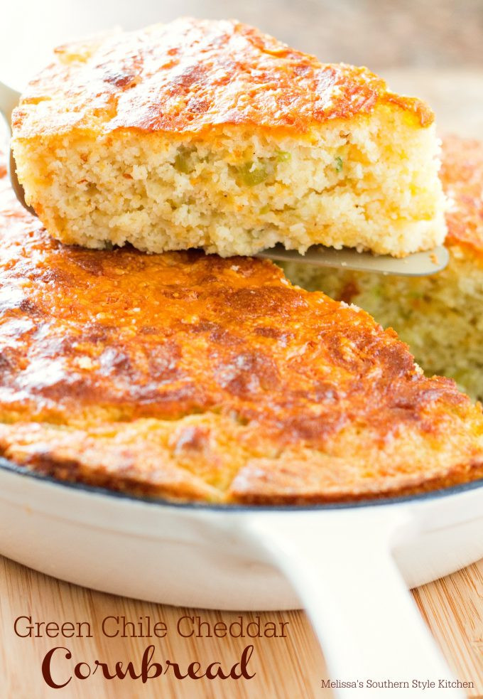 What Goes With Cornbread  Green Chile Cheddar Cornbread When it es to house