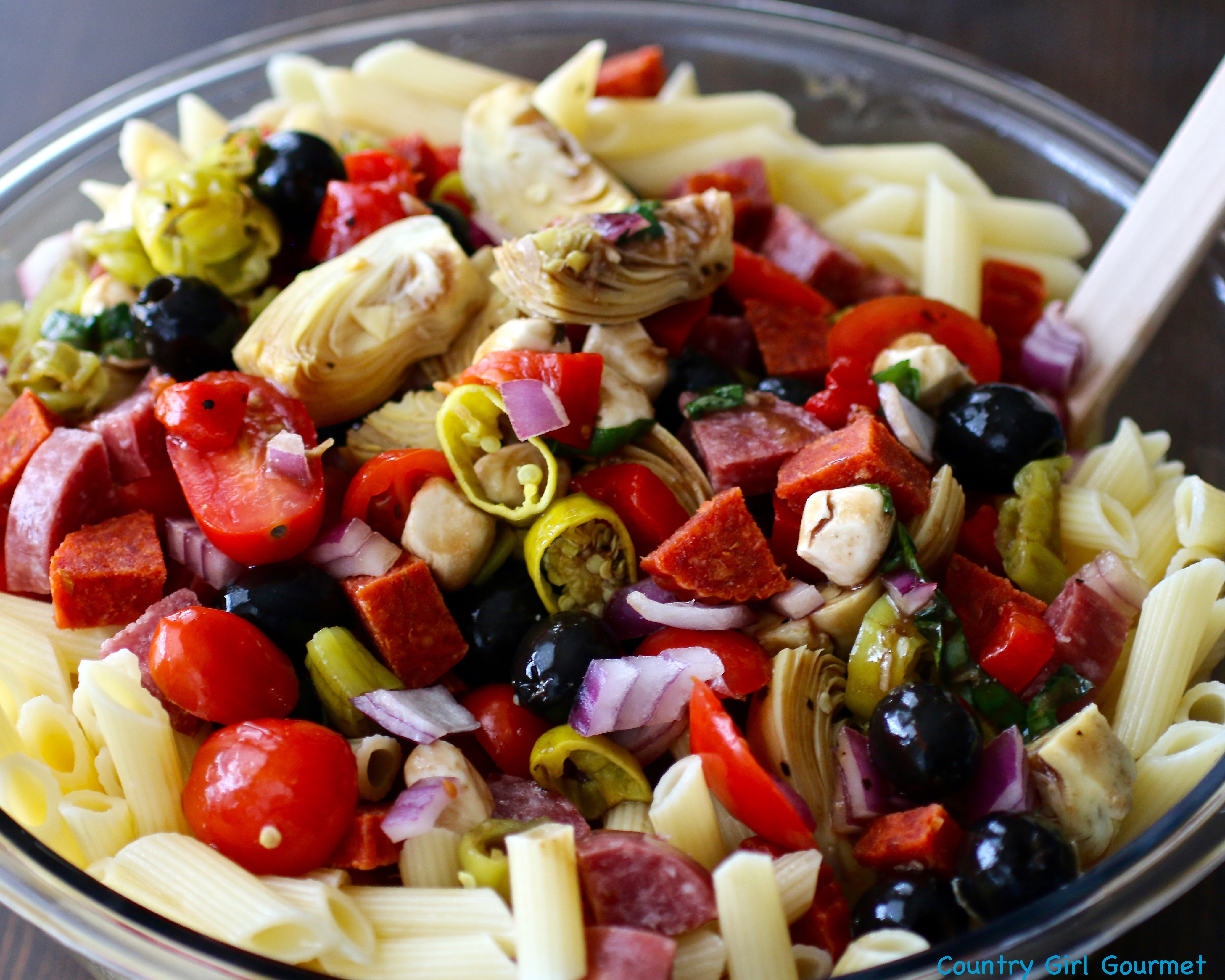 What Is Antipasto Salad  Easy Antipasto Pasta Salad and the Big Game My Hot
