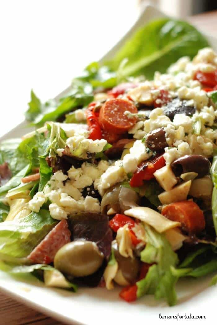 What Is Antipasto Salad  Antipasto Salad with Feta Vinaigrette LemonsforLulu
