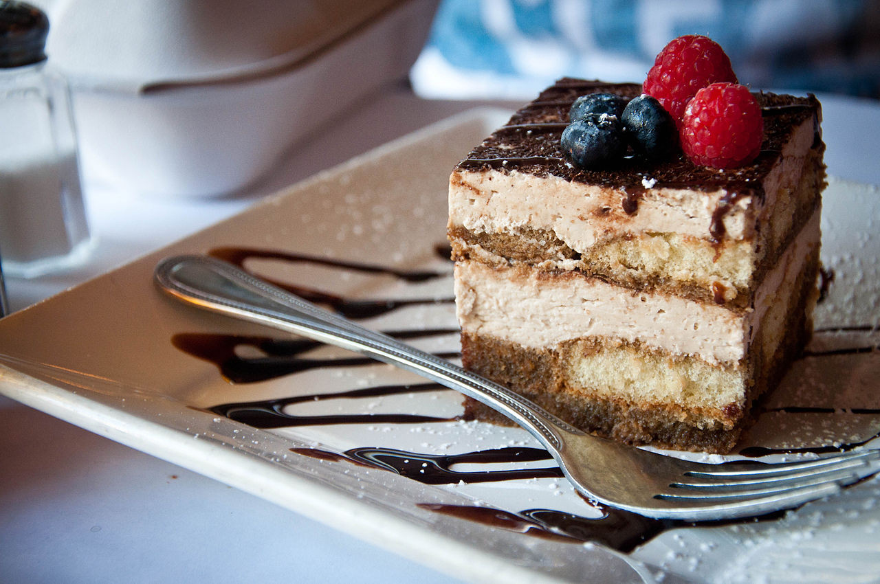 What Is Dessert  File Tiramisu with blueberries and raspberries July 2011