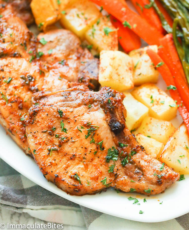 What Temp To Bake Pork Chops  Oven Baked Pork Chops Immaculate Bites