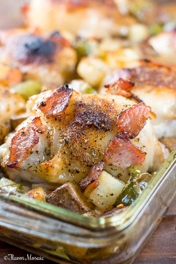What Temperature To Bake Chicken Thighs  Oven Baked Chicken Thighs with Bacon and Ranch Flavor Mosaic
