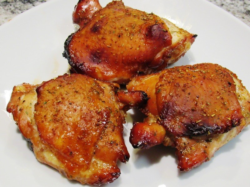 What Temperature To Bake Chicken Thighs  Oven Baked Marinaded Chicken Thighs Smokin Pete s BBQ