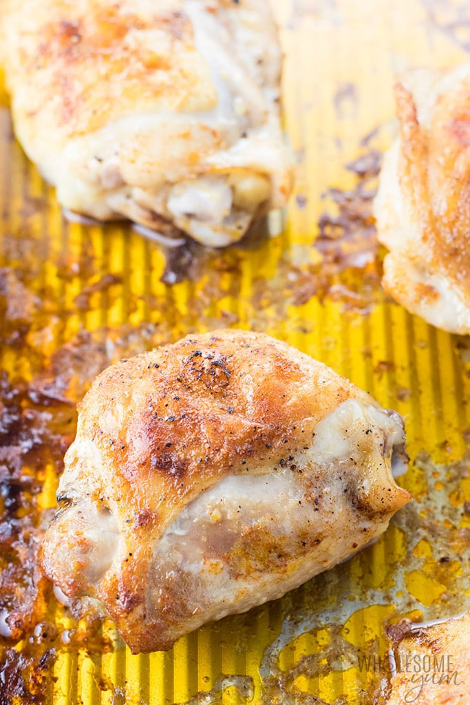What Temperature To Bake Chicken Thighs  The Best Easy Crispy Oven Baked Chicken Thighs Recipe