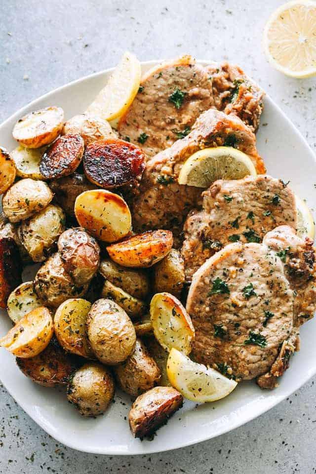 What Temperature To Bake Pork Chops  Pork Chops and Potatoes Sheet Pan Dinner Recipe Favorite