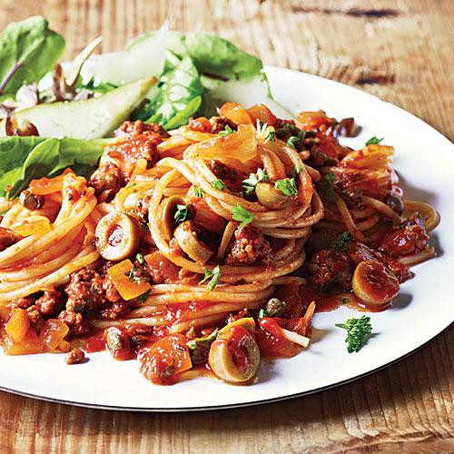 What To Cook For Dinner Tonight  Spanish Spaghetti with Olives Dinner Tonight Pasta