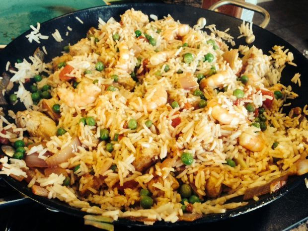 What To Cook For Dinner Tonight  What s for dinner tonight Chicken and Shrimp Paella