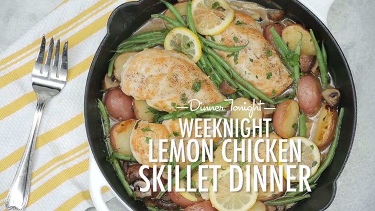 What To Do For Dinner  How to Make Weeknight Lemon Chicken Skillet Dinner