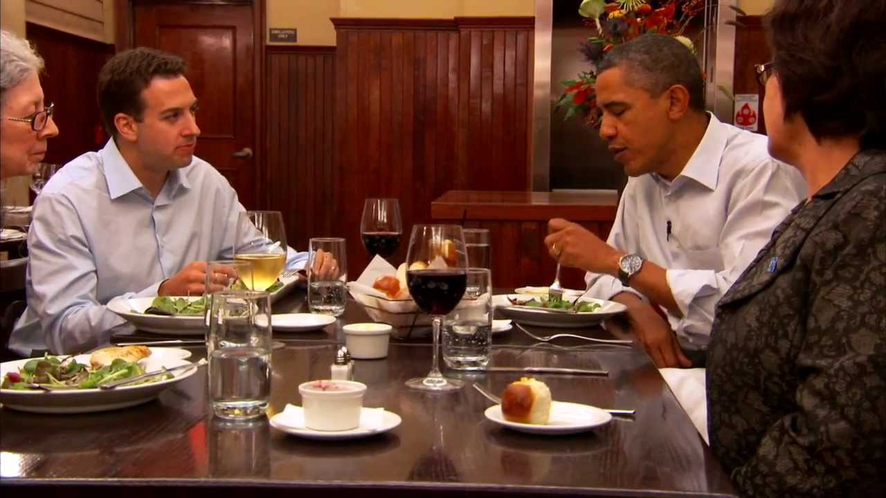 What To Do For Dinner  Dinner with Barack Two Teachers an Army Veteran a Small