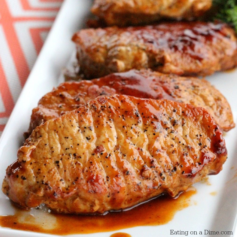What To Do With Pork Chops  Easy Skillet BBQ Pork Chops Eating on a Dime