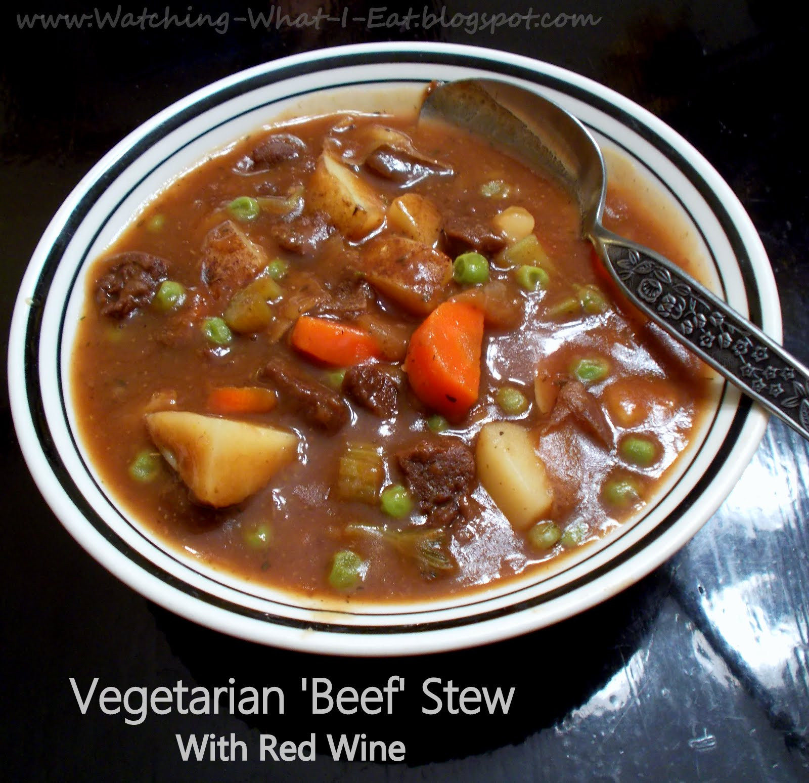 What To Serve With Beef Stew  Watching What I Eat Ve arian Beef Stew with Red Wine