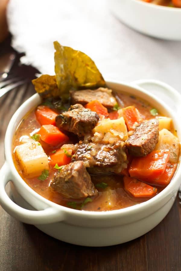 What To Serve With Beef Stew  Healthier Slow Cooker Beef Stew Recipe Primavera Kitchen