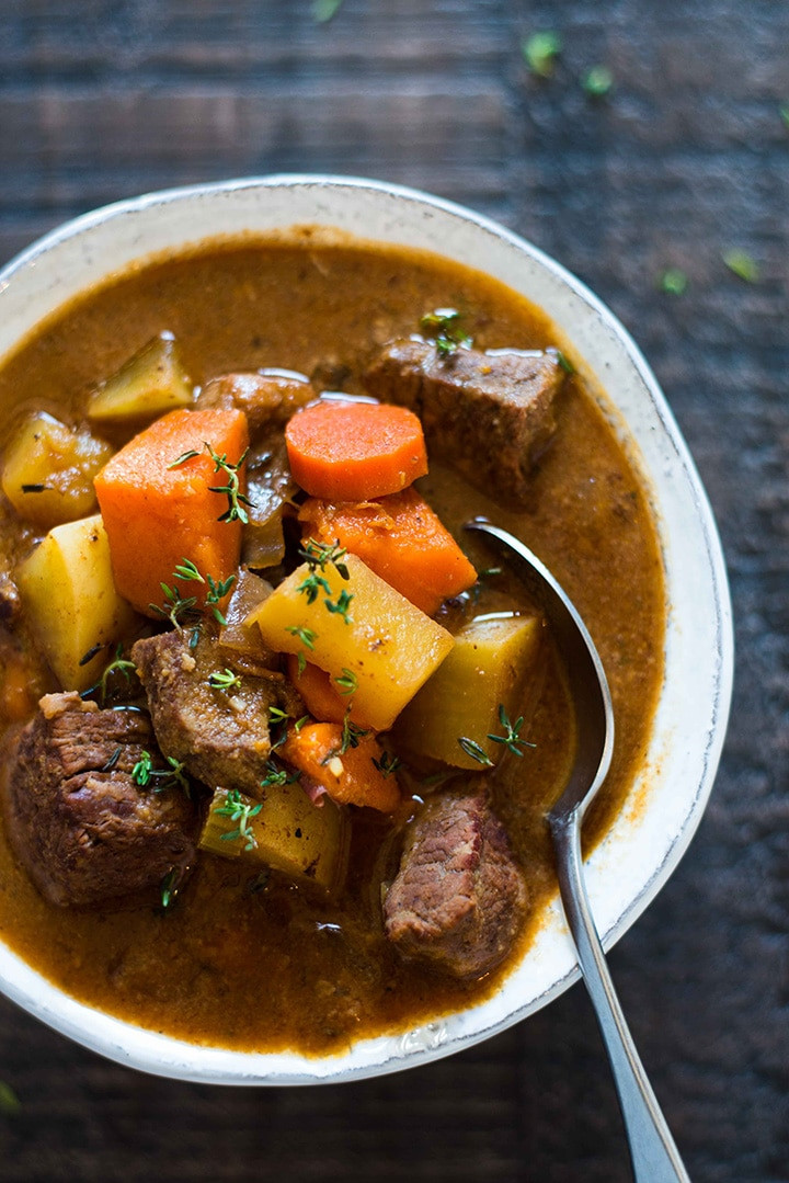 What To Serve With Beef Stew  Healthy Slow Cooker Beef Stew Perfect Make Ahead Dinner