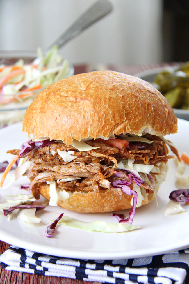 What To Serve With Pulled Pork Sandwiches  Oven Roasted Pulled Pork and Coleslaw Sandwiches A