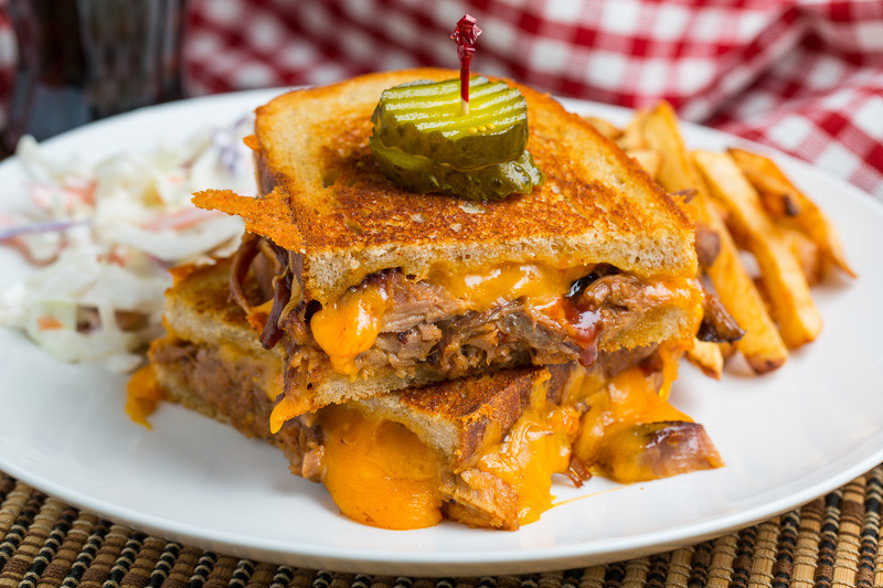 What To Serve With Pulled Pork Sandwiches  BBQ Pulled Pork Grilled Cheese Recipe on Closet Cooking