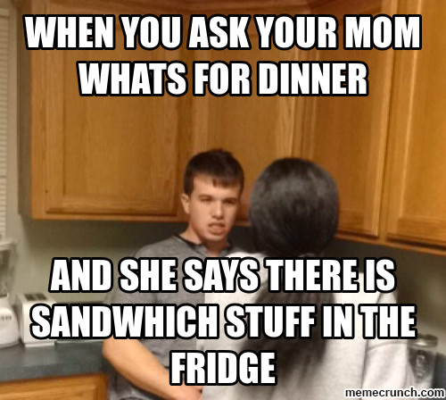 Whats For Dinner Meme  when you ask your mom whats for dinner