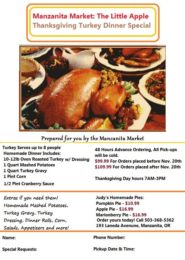Where To Order Thanksgiving Dinner  Thanksgiving Turkey Orders & Our 2014 Dinner Flyer