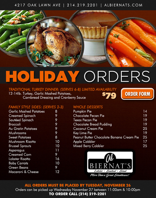 Where To Order Thanksgiving Dinner  Thanksgiving Pre Order Dinner Savedwebhistoryorg