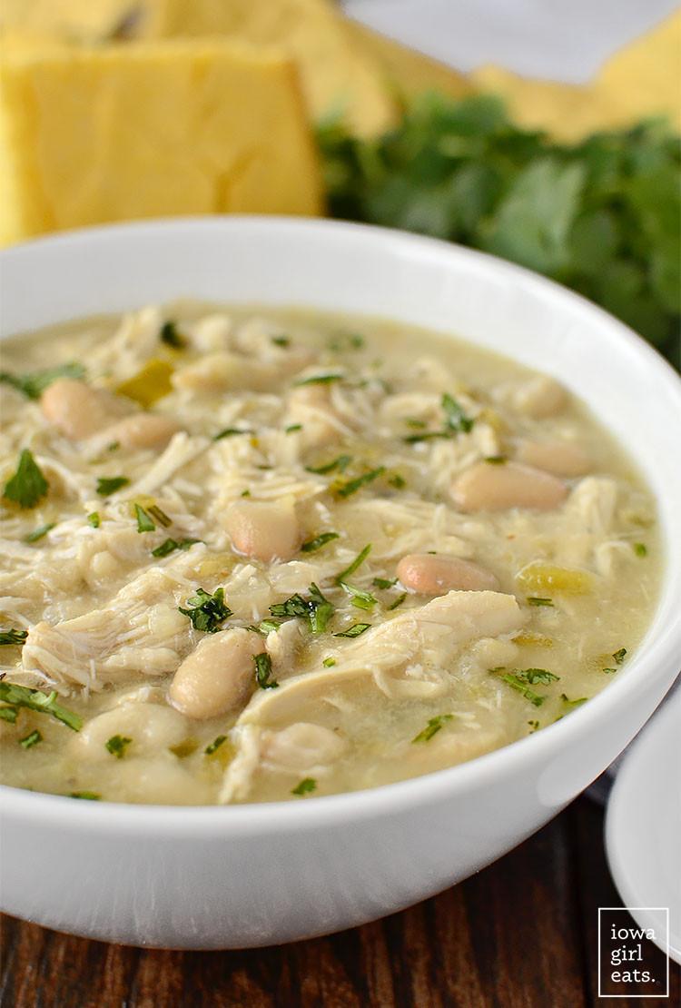 White Bean Chicken Chili  Crock Pot White Chicken Chili Healthy Crock Pot Recipe