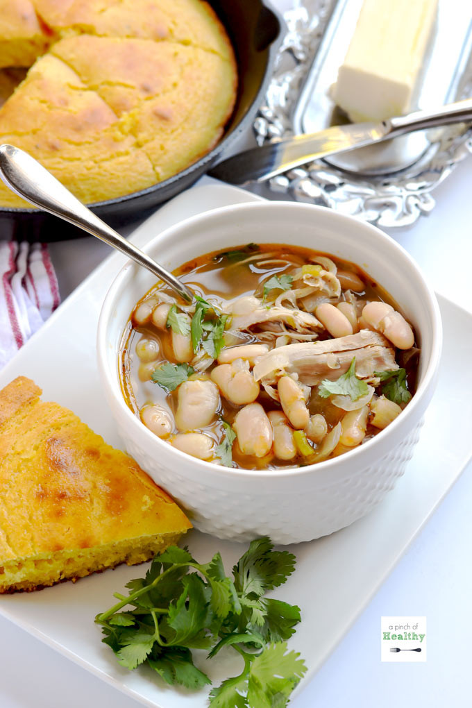 White Bean Chicken Chili  Instant Pot White Chicken Chili A Pinch of Healthy