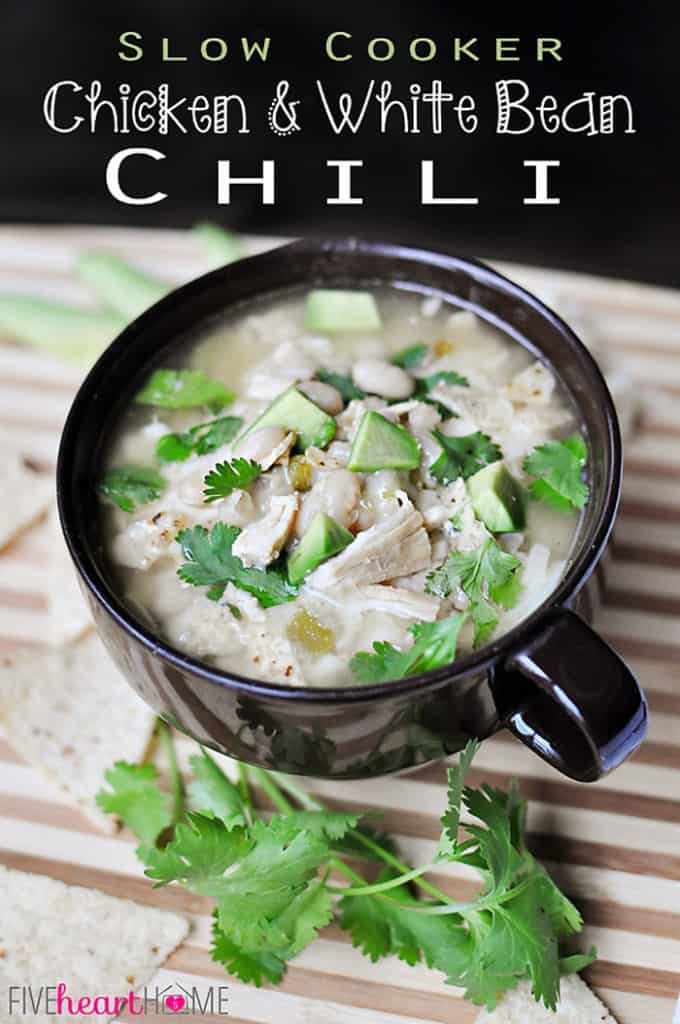 White Bean Chicken Chili Slow Cooker  Slow Cooker Chicken & White Bean Chili