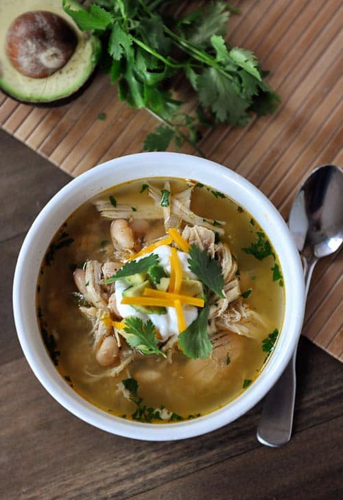 White Bean Chicken Chili Slow Cooker  Slow Cooker White Bean Chicken Chili