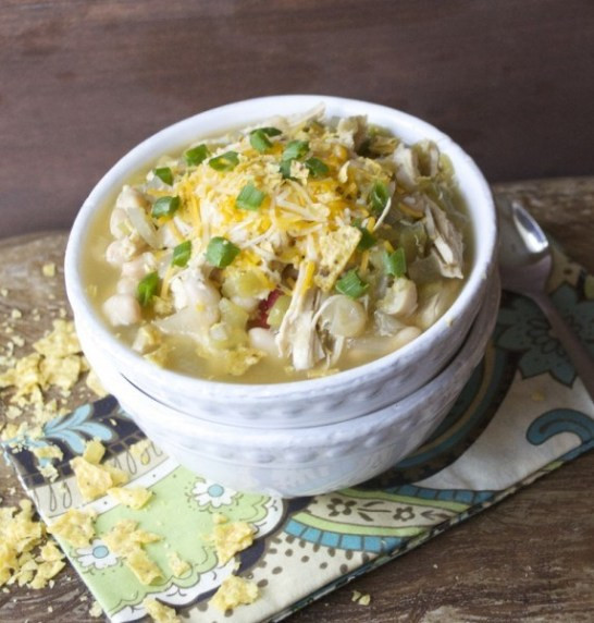 White Bean Chicken Chili Slow Cooker  Slow Cooker White Bean Chicken Chili Verde Video Maebells