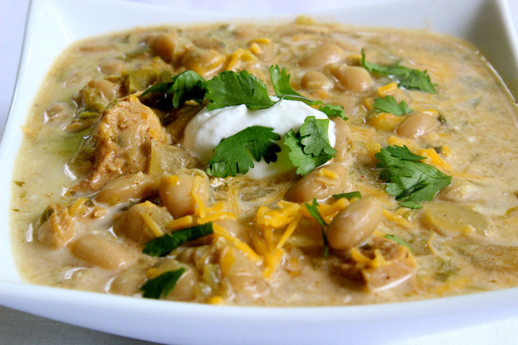 White Bean Chicken Chili Slow Cooker  The Best Slow Cooker White Bean Chicken Chili