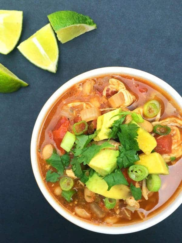 White Bean Chicken Chili Slow Cooker  Slow Cooker White Chicken Chili The Lemon Bowl