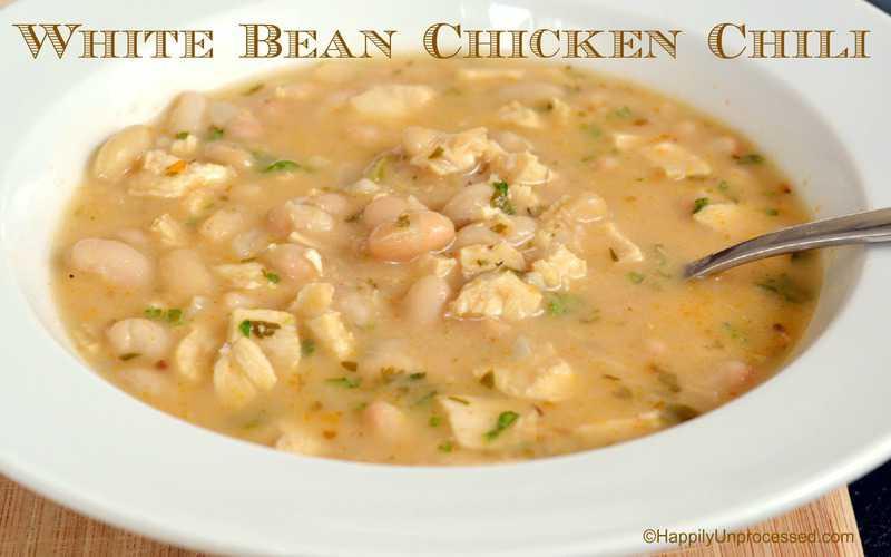 White Bean Chicken Chili  White Bean Chicken Chili Happily Unprocessed