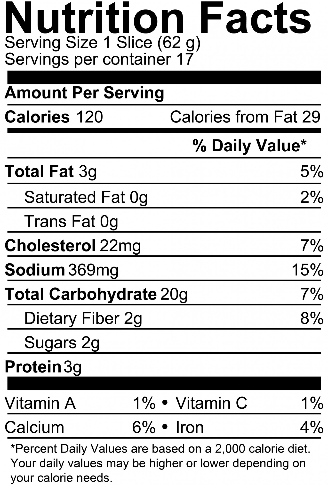 White Bread Nutrition Facts  Products