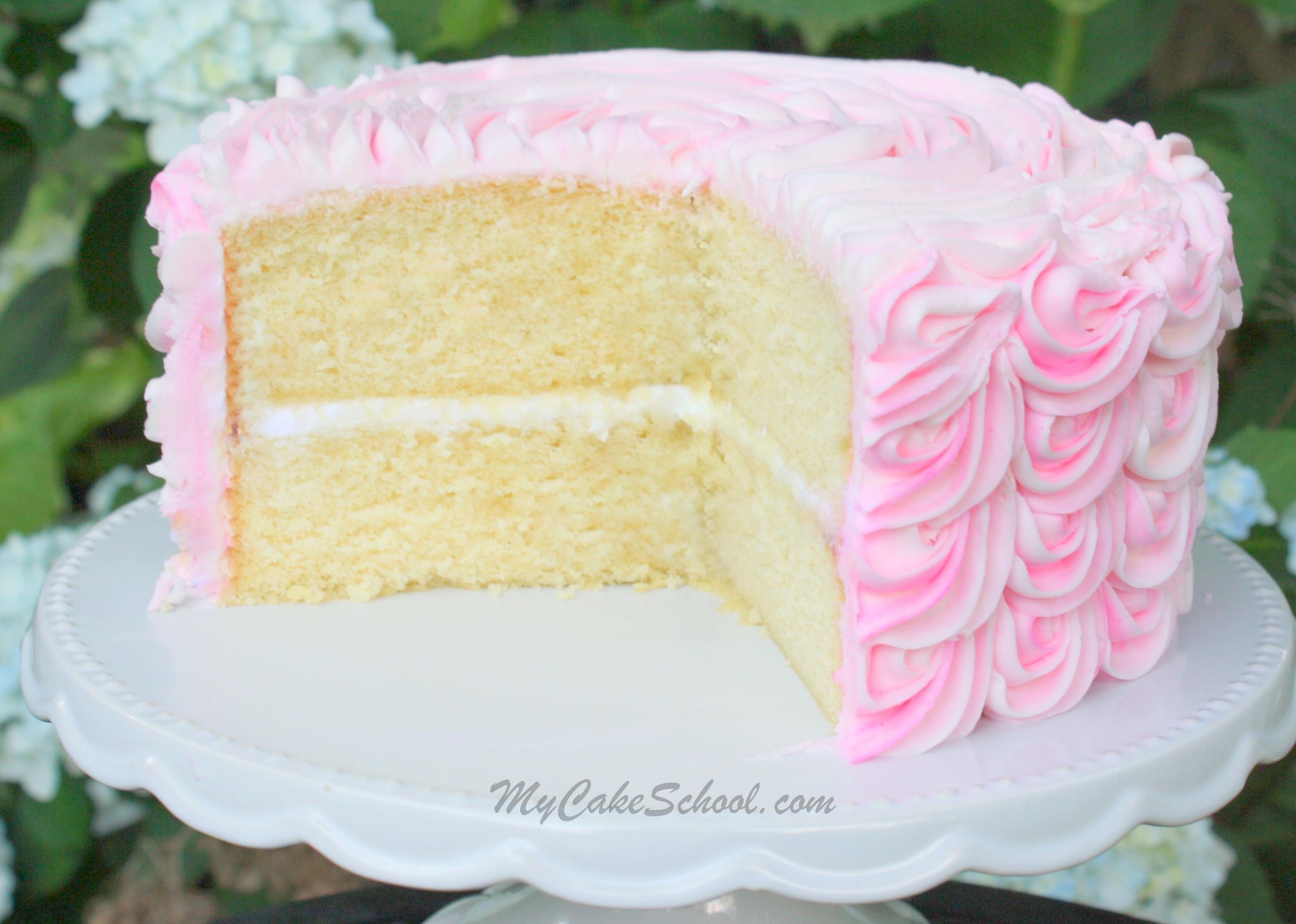 White Cake Mix Recipes  White Almond Sour Cream Cake A Scratch Recipe