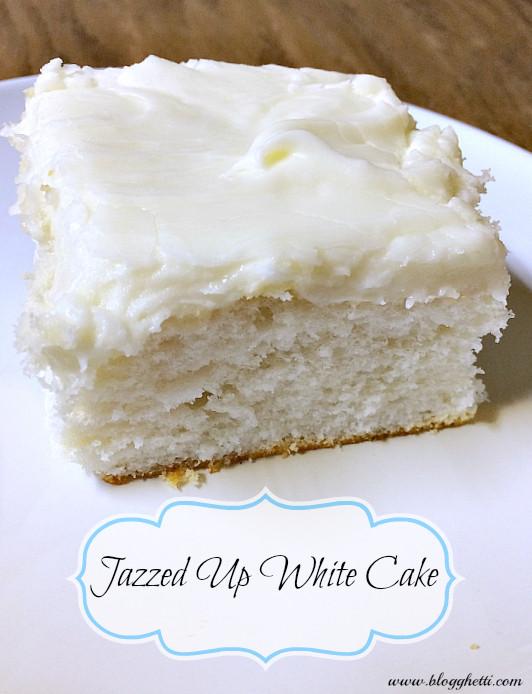 White Cake Mix  Jazzed Up White Cake
