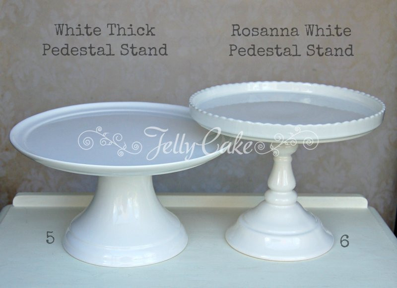 White Cake Stand  TO HIRE JellyCake