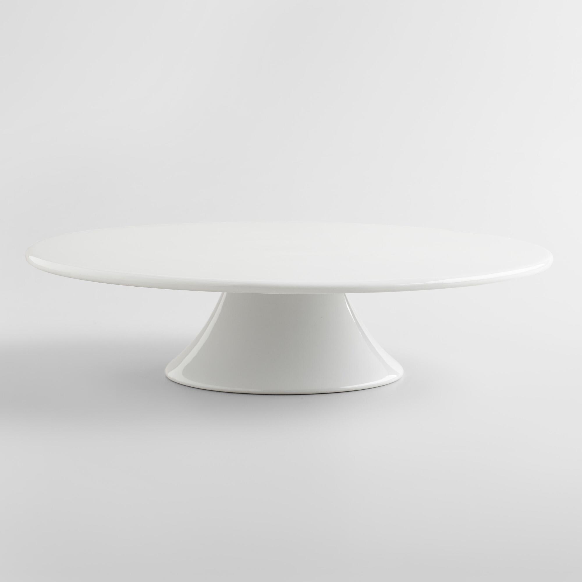 White Cake Stand  White Porcelain Cake Stand