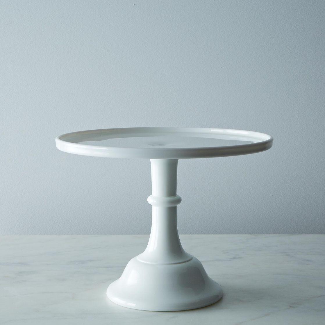 White Cake Stand  Milk Glass Cake Stand 12″