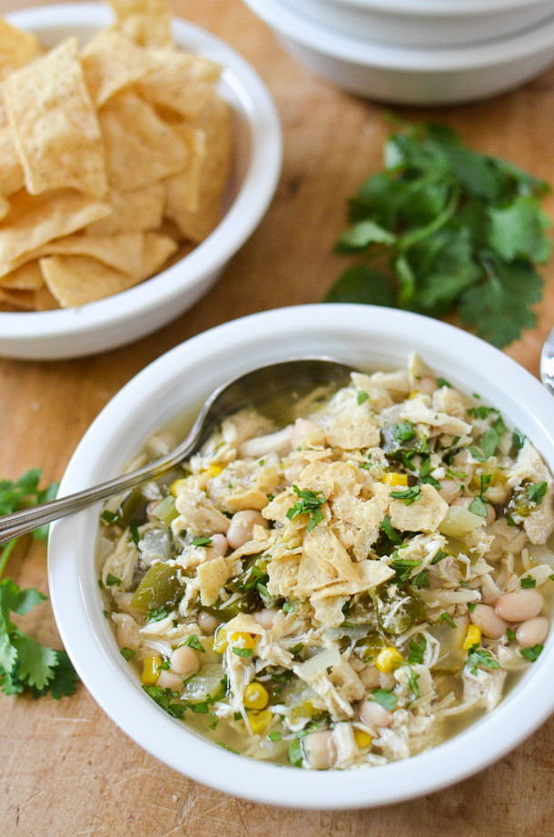 White Chicken Chili Recipe Slow Cooker  Slow Cooker White Chicken Chili Simply Whisked