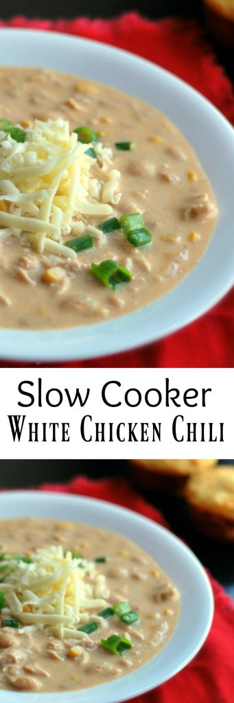 White Chicken Chili Recipe Slow Cooker  Slow Cooker White Chicken Chili Aunt Bee s Recipes